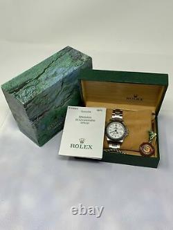 Rolex Explorer II Ref. 16570 WHITE POLAR DIAL No Holes Box & Papers