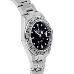 Rolex Explorer II Steel Auto 40mm Black Dial Oyster Bracelet Mens Watch 16570