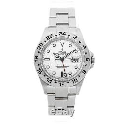 Rolex Explorer II Steel Auto 40mm Mens Watch Oyster Bracelet White Dial 16570