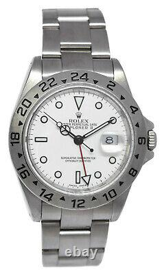 Rolex Explorer II Steel White Dial Mens 40mm Oyster Automatic Watch K'01 16570
