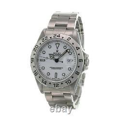 Rolex Explorer II Watch Mens Stainless Steel Polar White Dial 16570 40mm