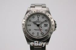 Rolex Explorer II Wrist Watch for Men 16570, Polar White, 1999