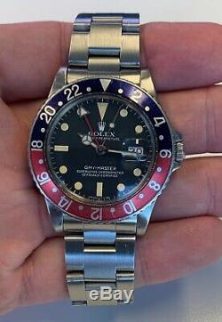 Rolex GMT Master 16750, Matte Dial, Pepsi Bezel, Circa 1982 Excellent condition