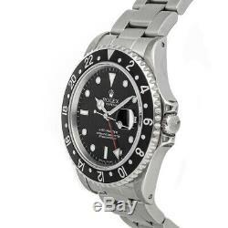 Rolex GMT Master Auto 40mm Steel Mens Oyster Bracelet Watch Date 16700