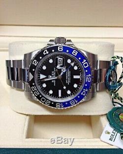 Rolex GMT Master II 116710BLNR Batman BOX AND PAPERWORK 2018 UNWORN