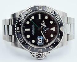 Rolex GMT-Master II 116710LN Black Dial with Black Ceramic Bezel 40mm