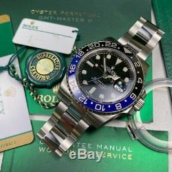 Rolex GMT Master II 116710 BLNR Batman Full Set 2018 Unworn Stickers