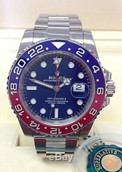 Rolex GMT Master II 116719BLRO White Gold Pepsi BOX AND PAPERS 2018 UNWORN