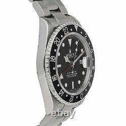 Rolex GMT-Master II Auto 40mm Steel Mens Oyster Bracelet Watch Date 16710