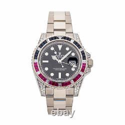 Rolex GMT-Master II Auto Gold Diamonds Mens Oyster Bracelet Watch 116759SARU