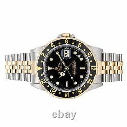 Rolex GMT-Master II Auto Steel Gold Mens Jubilee Bracelet Watch Date GMT 16713