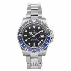 Rolex GMT-Master II Batman Auto 40mm Steel Mens Bracelet Watch Date 116710BLNR