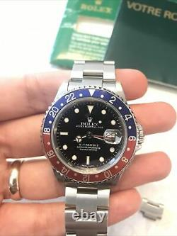 Rolex GMT-Master II Pepsi Auto Steel Mens Oyster Bracelet Watch Date 16710 BLRO