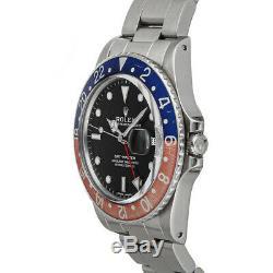 Rolex GMT-Master II Pepsi Auto Steel Mens Oyster Bracelet Watch Date 16750