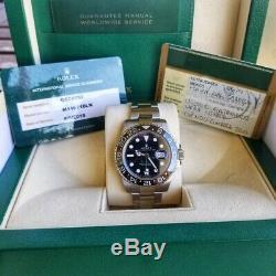 Rolex Gmt master II Steel Auto 40mm Mens Watch Oyster Bracelet 116710LN WARRANTY
