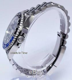 Rolex NEW GMT-Master II Black/Blue Mens Ceramic Steel Box/Papers BATMAN 126710