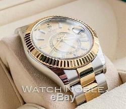 Rolex Sky-Dweller 18kt Yellow Gold/SS Champagne Dial 326933