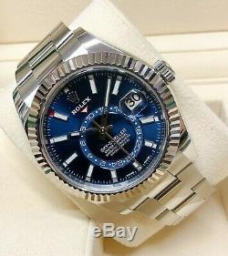 Rolex Sky Dweller 326934 Stainless Steel Blue BOX AND PAPERWORK 2018
