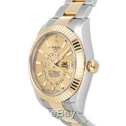 Rolex Sky-Dweller Auto 42mm Steel Yellow Gold Mens Bracelet Watch GMT 326933