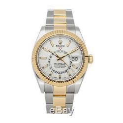 Rolex Sky-Dweller Auto 42mm Steel Yellow Gold Mens Oyster Bracelet Watch 326933