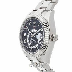 Rolex Sky-Dweller Auto 42mm White Gold Mens Oyster Bracelet Watch GMT 326939
