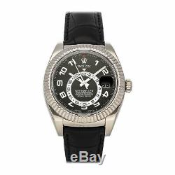 Rolex Sky-Dweller Auto 42mm White Gold Mens Strap Watch Date GMT 326139