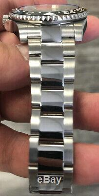 Rolex Steel GMT Master II Custom Blue / Black Ceramic Bezel 116710 Men's Watch