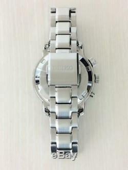 Seiko 5M85-0AF0 GMT Stainless Steel World Time Kinetic Mens Watch Auth Works