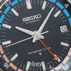 Seiko 6117-6410 Navigator Timer 1974 Automatic Authentic Mens Watch Works