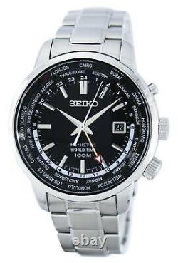 Seiko Kinetic World Time GMT Men's Watch SUN069P1