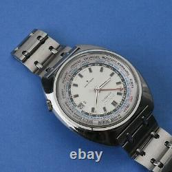 Seiko World Time GMT 6117-6409 Excellent Condition Pretty Dial Original Band SS