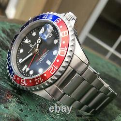 Steinhart Ocean One 1 GMT Pepsi Automatic Dive Watch Red Blue 42mm