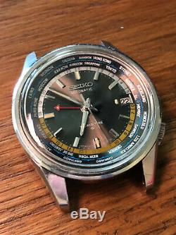 Superb Condition 1968 Seiko 6117-6019 World Time GMT Automatic