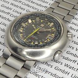 TISSOT Navigator T12 Worldtime / GMT von 1971 in Edelstahl sehr selten