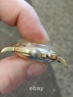 Tissot 14k Navigator World Time GMT Vintage Watch CHRONOGRAPH