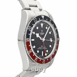Tudor Black Bay GMT Auto 41mm Steel Mens Bracelet Watch Date 79830RB