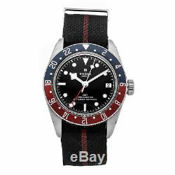 Tudor Heritage Black Bay GMT Auto 41mm Steel Mens Strap Watch Date 79830RB
