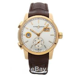 Ulysse Nardin Dual Time Manufacture Gold Automatic Strap Watch 3346-126/91