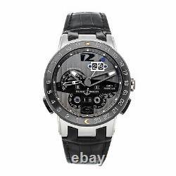 Ulysse Nardin El Toro GMT Calendar LE Auto Platinum Mens Strap Watch 329-00-3
