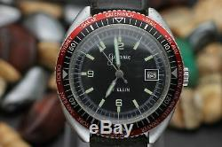 Vintage GALAXIE By ELGIN Hand Wind World Time GMT Base Metal Diver's Watch