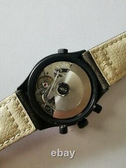 Vintage Gallet Valjoux 7750 World-Time GMT chronograph automatic Black PVD