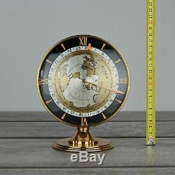 Vintage Imhof GMT World Time Gilt 8-Day Swiss Clock