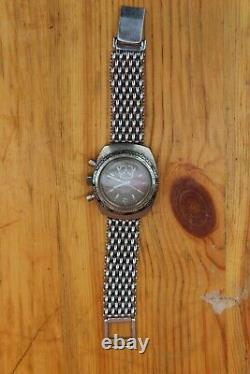 Vintage Lucerne Chronograph Submarino GMT World Time for repair or parts