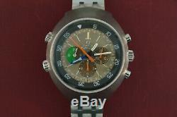 Vintage Omega Flightmaster 145.013 MK1 Orange Second Hands Stainless Steel 43mm