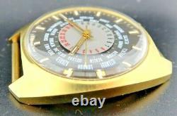 Vintage Paul Garnier GMT World Time Manual Wind Men's Watch NOS never worn #2