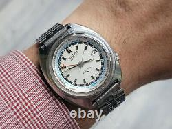 Vintage SEIKO GMT 6117-6400 Automatic World Time White Dial Cal 6117B SERVICED