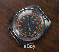 Vintage SEIKO World Time GMT Automatic 6117 6400 Watch AS IS Running Project