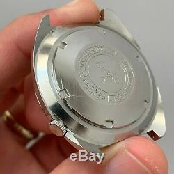 Vintage Seiko World Time GMT 6117-6400 Rare Linen Dial Beautiful Condition