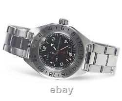 Vostok (Boctok) GMT 24HR Komandirskie 650539 Automatic Dive Watch 200m Rated