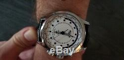 Vulcain Aviator, World Time, GMT, Cricket Alarm, Store Model, Unused, Deployant